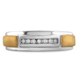 Bridal Symphony 10k Gold Men's Diamond Wedding Band (I-J, I2)