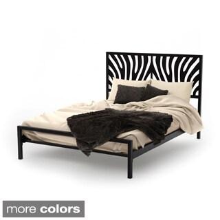 Amisco Zebra Queen Size Metal Bed