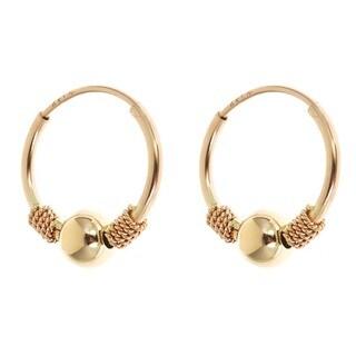 14k Yellow Gold Endless Hoop Earrings