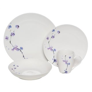 Melange Purple Zen Premium Dinnerware 16-piece Place Setting