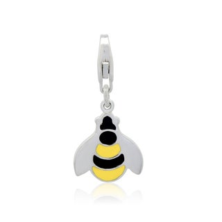 Gioelli Sterling Silver Enamel Bumble Bee Charm