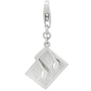 Gioelli Sterling Silver Music Sheet and Note Charm