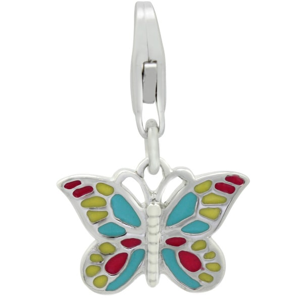 Gioelli Sterling Silver Pastel Butterfly Charm