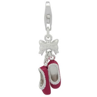 Gioelli Sterling Silver Ballet Slippers Charm