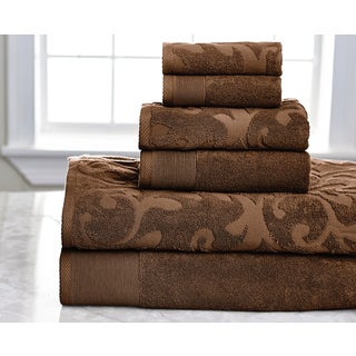Quick Dry Solid Egyptian Cotton 6-pieceTowel Set