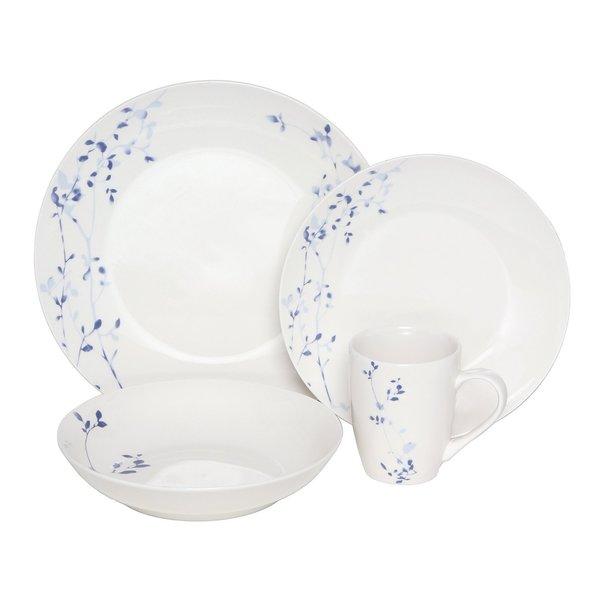 Melange Indigo Garden 32-piece Premium Dinnerware Set