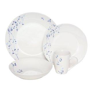 Melange Indigo Garden 32-piece Premium Porcelain Dinnerware Set