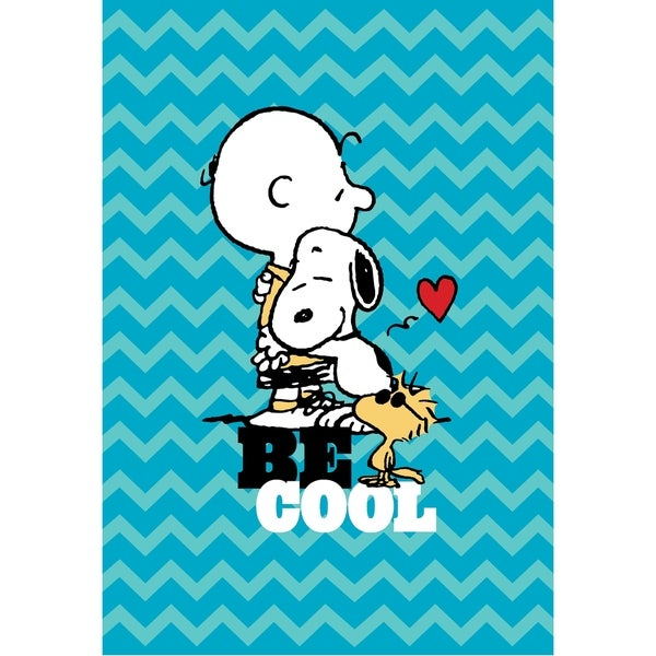 Peanuts Just Be Blanket and Woodstock Pillow Set
