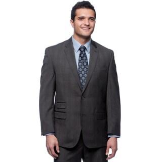 Sean John Men's Subtle Checkered Grey Suit