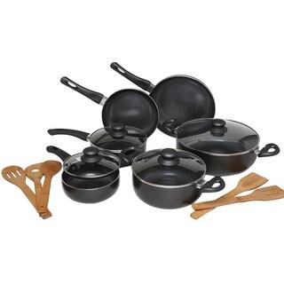 Melange Charcoal Nonstick Scratch-resistant 15-piece Cookware Set