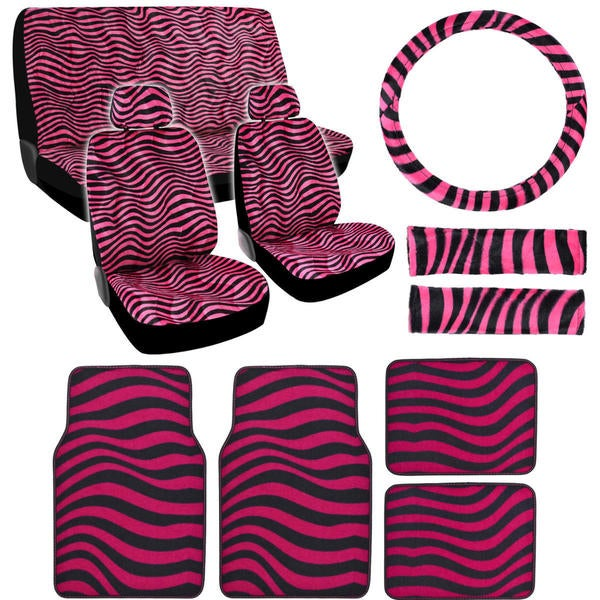 BDK Wave Car Seat Covers and Floor Mats Full Set