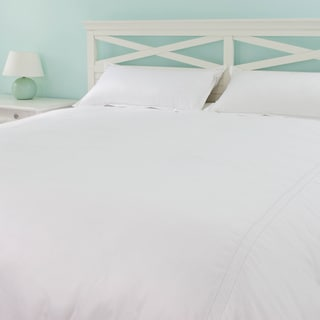Oversized Cotton Sateen 3-piece Duvet Cover Sets - Super and Palatial King Sizes for Larger Comforter Protection