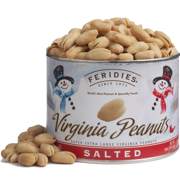 Feridies Virginia Salted Peanuts Snowman 40-ounce Can