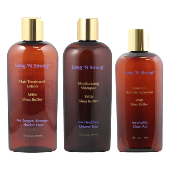 Long 'N Strong 3-piece Complete Treatment Set with Shea Butter