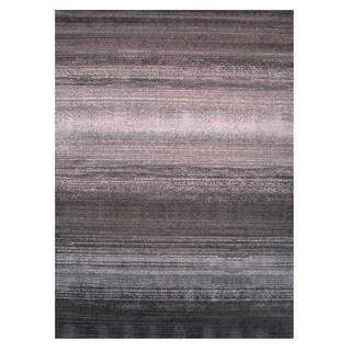 Machine-Made Cosmopolitan Grey Polypropylene Rug (7'3 x 10')