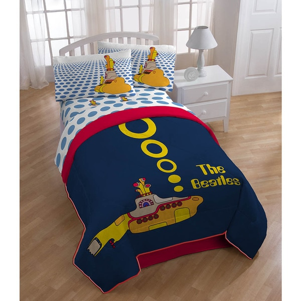 Beatles Yellow Submarine 4-piece Bedding Set