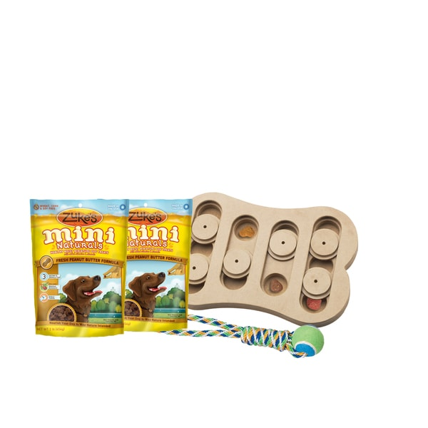 Seek-a-Treat Shuffle Bone Interactive Dog Toy Bundle