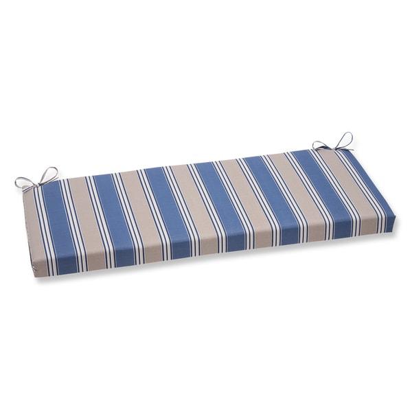 Pillow Perfect Hamilton Stripe Blue Bench Cushion