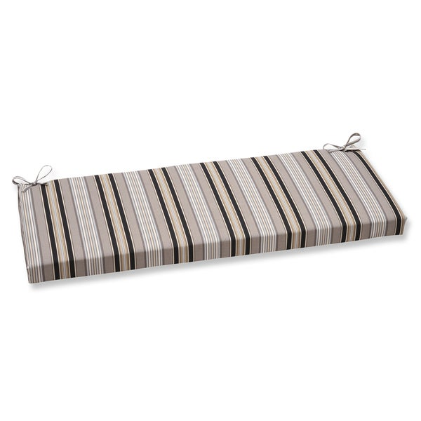 Pillow Perfect Getaway Stripe Black Bench Cushion