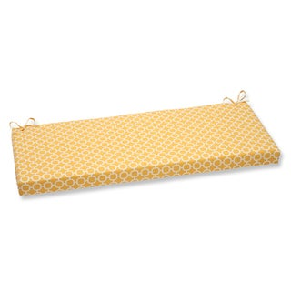 Pillow Perfect Hockley Yellow Geometric Style Bench Cushion