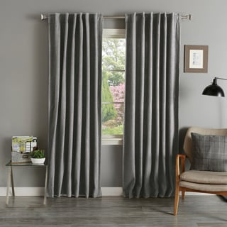 Grey Wool 84-inch Curtain Panel Pair