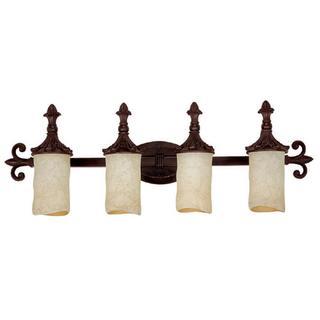 Capital Lighting Mediterranean Collection 4-light Mediterranean Bronze Bath/Vanity Light