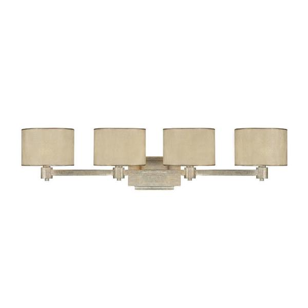 Capital Lighting Luna Collection 4 Light Painted Winter Gold Bath Vanity Ligh