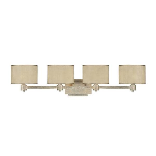 Bathroom Vanity Lights Gold : Capital Lighting Luna Collection 4-light Painted Winter Gold Bath/Vanity Light - 16819422 ...
