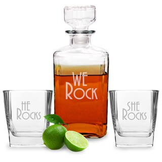We Rock Decanter and Glasses Set