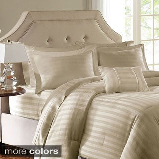 Madison Park 300 Thread Count Cotton Dobby Stripe 4-piece Comforter Set