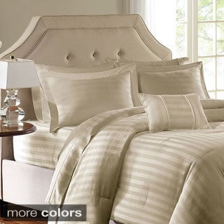 Madison Park 300TC Cotton Dobby Stripe 4-PC Comforter Set--6 Colorways
