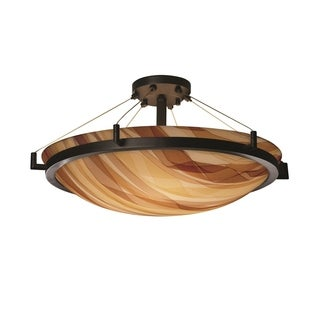 Justice Design 3Form Ring 6-light Round Semi-flush Mount