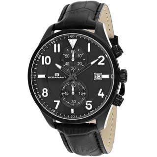 Oceanaut OC4322 Men's Rally Round Black Strap Watch