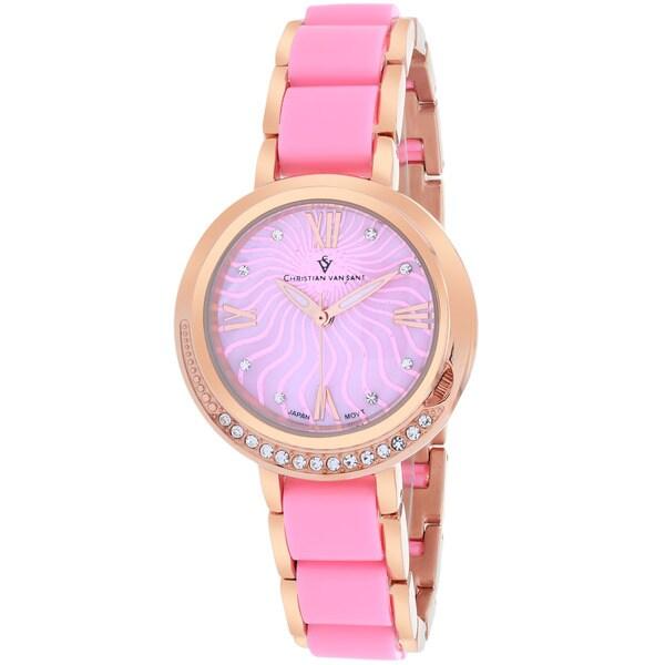 Christian Van Sant CV7613 Women's Eternelle Round Rose gold Bracelet Watch