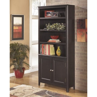 Signature Design by Ashley Carlyle Almost Black Large Door Bookcase