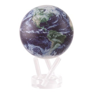 4.5-inch Solar Powered MOVA World Globe - Satellite with Clouds