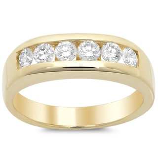 14k Yellow Gold Men's 1 1/6ct TDW Diamond Ring (F-G, SI1-SI2)