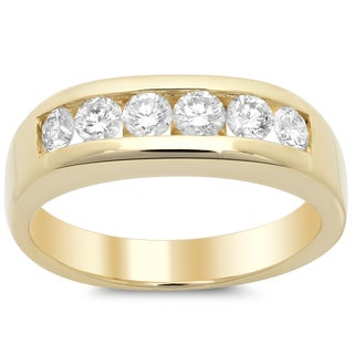 14k Yellow Gold Men's 1 1/6 ct TDW Diamond Ring (F-G, VS1-VS2)