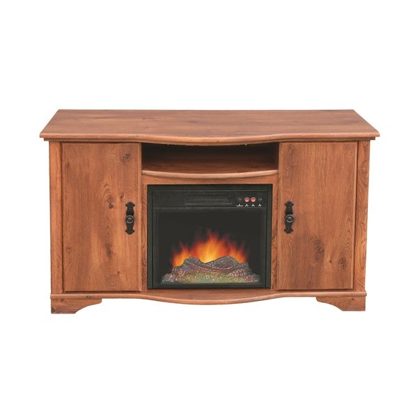 austin rustic pine media center fireplace 16822911