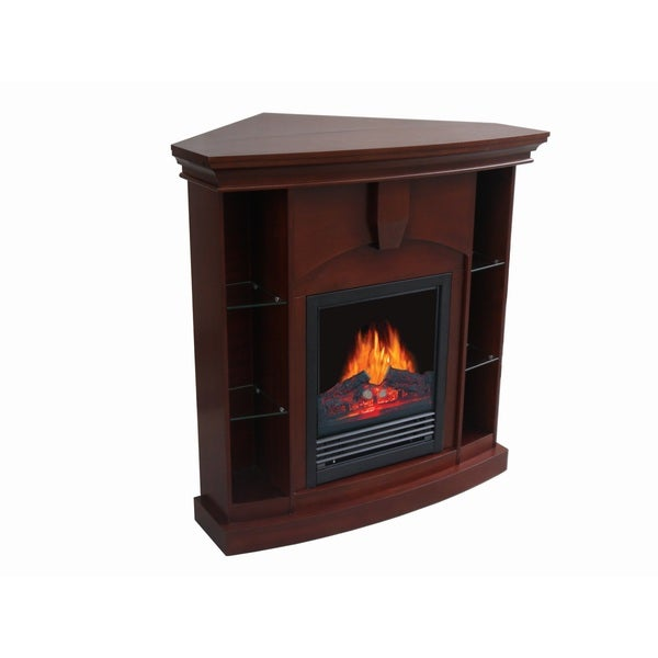 corner electric fireplace mantel tv stand entertainment