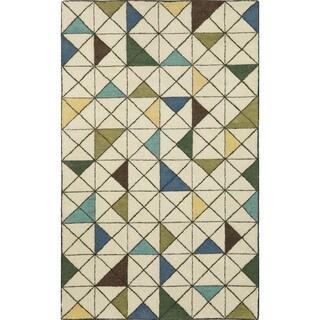 Geometric Driftwood Indoor Rug (8' x 10')