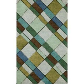 Blocks Driftwood Indoor Rug (8' x 10')