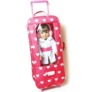 The New York Doll Collection 18-inch Doll Suitcase with Display Window
