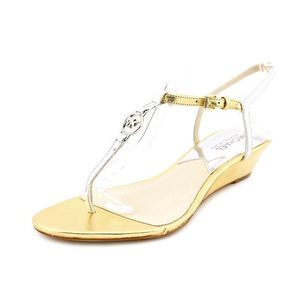 Michael Kors Women's 'Nora Wedge' Leather Sandals