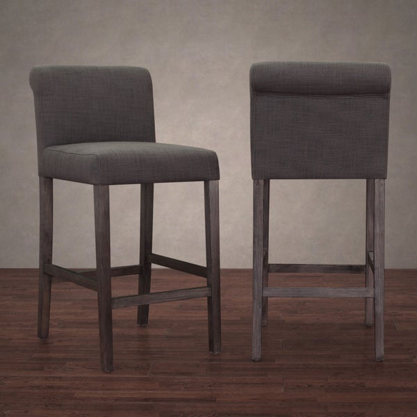 Cosmopolitan Smoke Linen Counter Stool Set Of 2