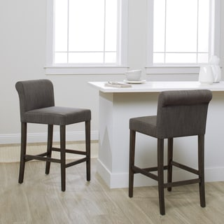 Cosmopolitan Smoke Linen Counter Stool (Set of 2)