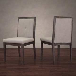Patterson Beige Linen Dining Chair (Set of 2)