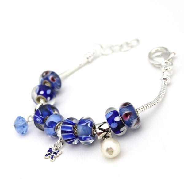 Bleek2Sheek 'Frozen' Blue-themed Pandora-Style Charm Bracelet