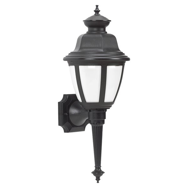 Seagull Lighting One Fluorescent Light White Lens Outdoor Wall Lantern