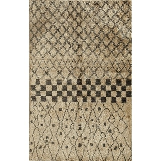 Morocco Beige Hand-knotted Jute Area Rug (5' x 7')